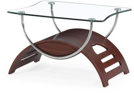 "Global Furniture USA 63EndTable 19""- Height Glass Top End Table"