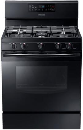 "Samsung NX58F5500SB 30"" Gas Freestanding Range with Sealed Burner Cooktop, 5.8 cu. ft. Primary Oven Capacity, Storage in Black"