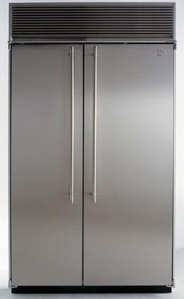 Northland 72SSWG  Counter Depth Side by Side Refrigerator with 48.3 cu. ft. Capacity in Glass Refrigerator/Panel Ready Freezer Door