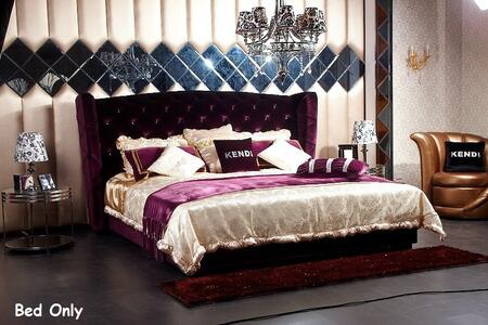 VIG Furniture VGKNN5028-PURPLE Modrest Majestic - Transitional Purple Fabric Bed