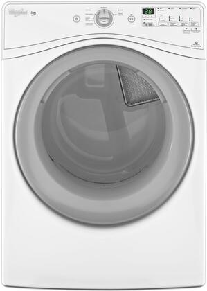 Whirlpool WXD80HEBW Duet 7.4 cu. ft. Front Load Gas Dryer With Eco Monitor, 7 Automatic Cycles, 4 Temperature Settings, Quiet Dry Plus Noise Reduction System and Adjustable End-of-Cycle Signal in White