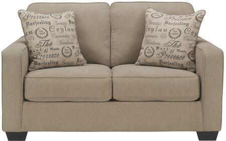 Flash Furniture FSD1669LSQTZGG Alenya Series Fabric Stationary with Wood Frame Loveseat