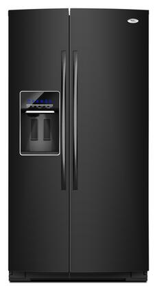 Whirlpool GSS26C4XXB  Side by Side Refrigerator with 26.4 cu. ft. Capacity in Black