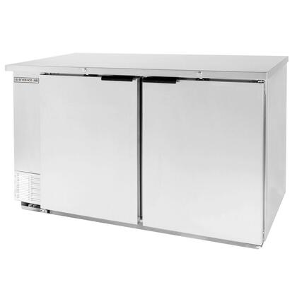 beverage air bev air bb58 1 s 58 back bar refrigerator with 2 solid doors and stainless steel front 115v