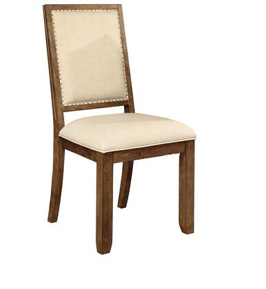 Coaster 105522 Bridgeport Series Rustic Fabric Wood Frame Dining Room Chair