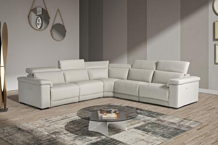 VIG Furniture VGNTPALINUROGRY Estro Salotti Palinuro Series Stationary Leather Sofa