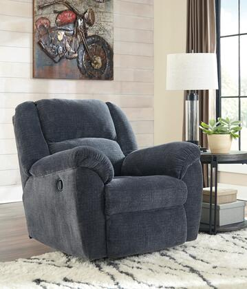 """Signature Design by Ashley Timpson Collection 6190x25 40"""" Rocker Recliner with Fabric Upholstery, Plush Padded Arms, Split Back Cushion and Contemporary Style in"""