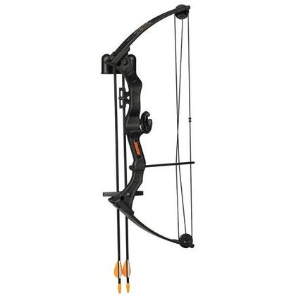 Bear AYS300 Brave Youth Bow Set with Safetyglass Two Arrows, an Armguard, Two-Piece Arrow Quiver, a Finger Tab, Whisker Biscuit Arrow Rest, One-Pin Sight, and Temporary Tattoo