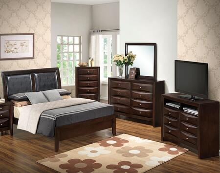 Glory Furniture G1525AKBDMCHTV2 G1525 King Bedroom Sets