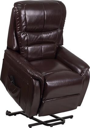 Flash Furniture CH US 153062L BRN LEA GG