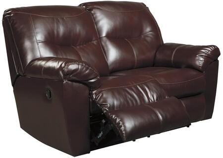 Signature Design by Ashley 8470286 Kilzer Series DuraBlend Reclining with Metal Frame Loveseat