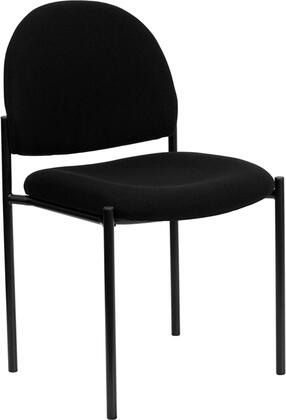"Flash Furniture BT-515-1-XX-GG 19"" Fabric Comfortable Stackable Steel Side Chair with 2.5"" Thick Padded Seat, Two Steel Cross Brace Support Bars Underneath Seat, and Steel Tubular Steel Frame"