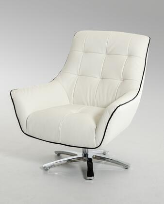 "VIG Furniture VGKKA901WHT 34"" Lounge Chair"