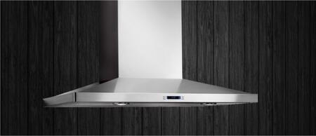 Lugano Stainless Wall Mounted Range Hood: Standard Look at the Hood, Mounted