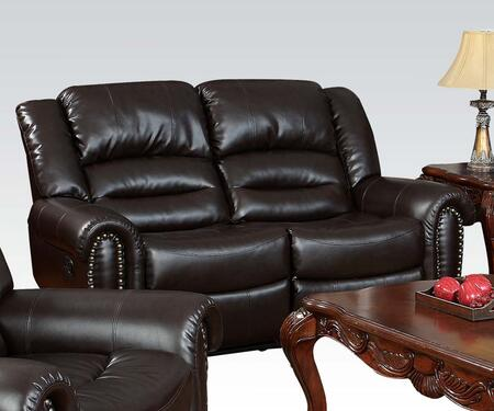 Acme Furniture 50286 Ralph Series Bonded Leather Reclining with Wood Frame Loveseat