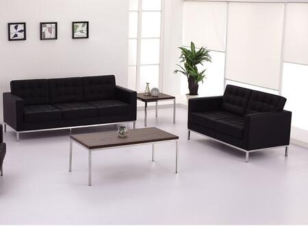 Flash Furniture ZBLACEY8312SLBKGG Hercules Lacey Living Room