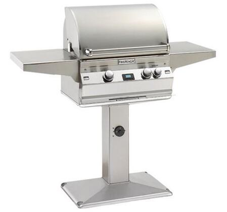 FireMagic A430S1E1PP6 Post Mount Grill, in Stainless Steel