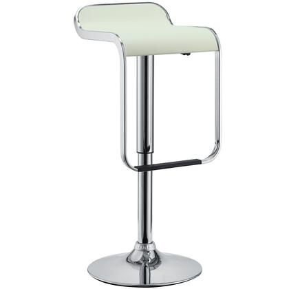Modway EEI169WHI Lem Series Residential Not Upholstered Bar Stool