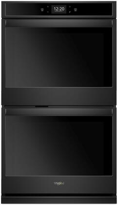 """Whirlpool WOD77EC0H 30"""" Smart Double Wall Oven with 10 cu. ft. Capacity, True Convection Cooking, Scan-to-Cook Technology, Scan-to-Connect Technology, Temperature Sensor,"""