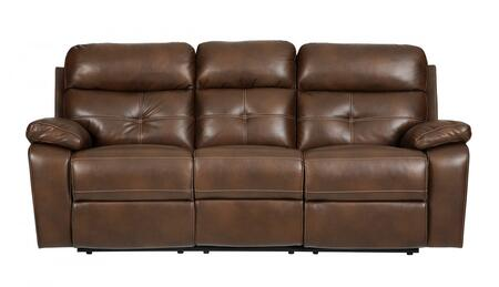 Coaster 601691 Damiano Series Reclining Faux Leather Sofa