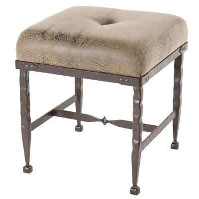 Stone County Ironworks 904-225-FAUX Forest Hill Foot Stool With Faux Leather