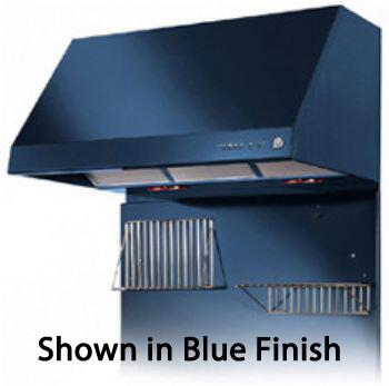 "Heartland 3400XX 30"" Wall Mount Range Hood with 500 CFM Inline Blower, 3 Speed, Heating Lamps and Automatic Shut-Off"
