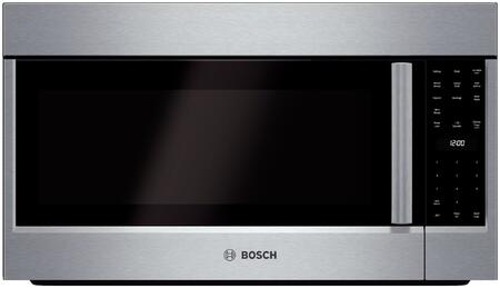 Bosch HMV5052U Over the Range Microwave Oven with 1100 Cooking Watts, 10 Power Levels in Stainless Steel