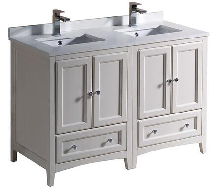 "Fresca FCB202424 Oxford 48"" Traditional Double Sink Vanity with Top and Sink"