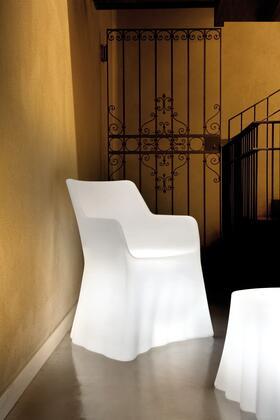 Domitalia PHANTOMP000PETRLUP0BL Phantom Series  Plastic Frame  Patio Chair