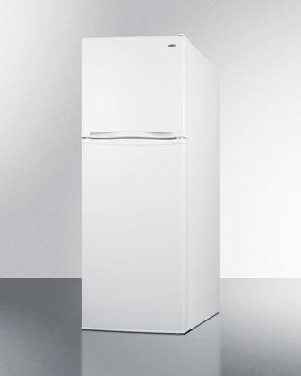 "Summit FF1375 24"" Top Freezer Refrigerator with 11.5 cu. ft. Capacity, Adjustable Thermostat, Interior Light and Adjustable Glass Shelves, in White"