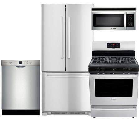 Bosch 4 Piece Stainless Steel Kitchen Package With