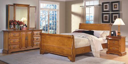 New Classic Home Furnishings 1133QSBDMN Honey Creek Queen Be