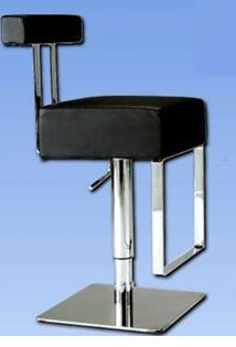 Chintaly 0812ASBLK  Bar Stool
