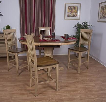 Sunset Trading DLUBR4260CBB70PW5PC Brook Dining Room Sets
