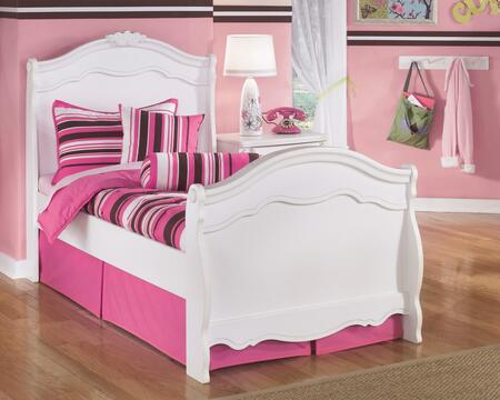 Signature Design by Ashley B188-SLBED Exquisite Collection Size Sleigh Bed: White