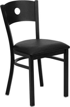 "Flash Furniture HERCULES Series XU-DG-60119-CIR-XXV-GG 20"" Heavy Duty Circle Back Metal Restaurant Chair with Vinyl Seat, Commercial Design, 18 Gauge Steel Frame, and Plastic Floor Glides"