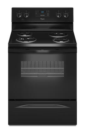 "Whirlpool WFC130M0AB 30""  Electric Freestanding Range with Coil Element Cooktop, 4.8 cu. ft. Primary Oven Capacity, Storage in Black"