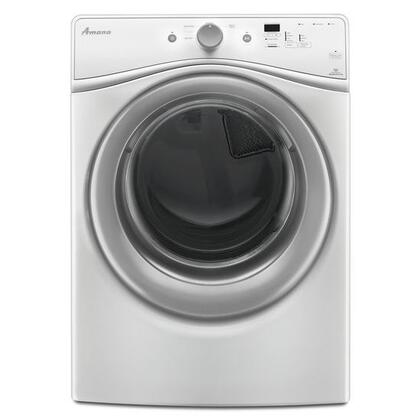 "Amana NED5800DW 27"" 7.4 cu. ft. Electric Dryer, in White"