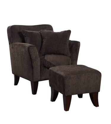 Chocolate Brown Accent Chairs.Sunset Trading Suulc174100