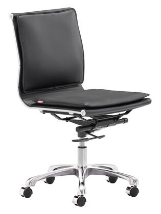 Zuo 2152 Lider Plus Collection Modern Armless Office Chair in