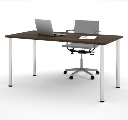 "Bestar Furniture 65862 Bestar 30"" x 60"" Table with round metal legs"