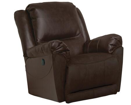 "Catnapper Maverick Collection 40"" Glider Recliner with Classic Luggage Stitching, European Inspired Styling, Pillow Top Arms and Extra Padded Micro-Denier Fabric Upholstery"