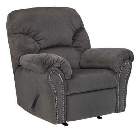 """Milo Italia Madison MI-9042CTMP 43"""" Rocker Recliner with Plush Pillow Top Arms, Nail-Head Accents and Divided Back Cushion in"""