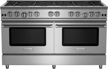 "BlueStar RNB6010BV2X RNB Series 60"" Freestanding Gas Range with 10 Cast Iron Open Burners, 4.5 Cu. Ft. Convection Oven, Simmer Burner, Full Motion Grates and Stainless Steel Drip Trays"