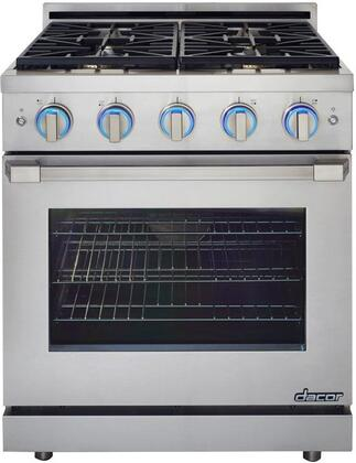 "Dacor RNRP30GSLP 30"" Renaissance Series Slide-in Gas Range with Sealed Burner Cooktop, 5.2 cu.ft. Primary Oven Capacity, in Stainless Steel"