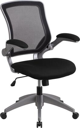 Flash Furniture BLZP8805GG Mid-Back Mesh Task Chair with Flip-Up Arms