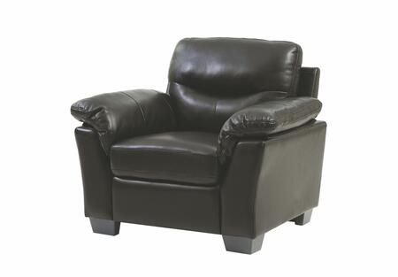 Glory Furniture G653C G650 Series Faux Leather Armchair in Black