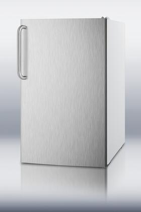 """AccuCold FS407LXSSTBADA 20""""  Counter Depth Freezer with 2.8 cu. ft. Capacity in Stainless Steel"""
