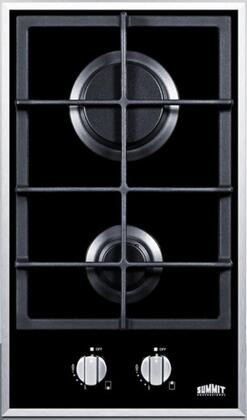 Summit GC2BGL  Gas Sealed Burner Style Cooktop, in Black