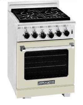American Range ARR244BG Heritage Classic Series Natural Gas Freestanding Range with Sealed Burner Cooktop, 3.71 cu. ft. Primary Oven Capacity, in Beige